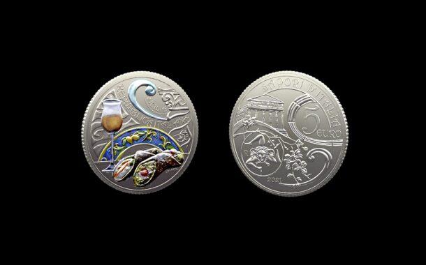 Numismatica, il cannolo siciliano nelle monete da 5 euro