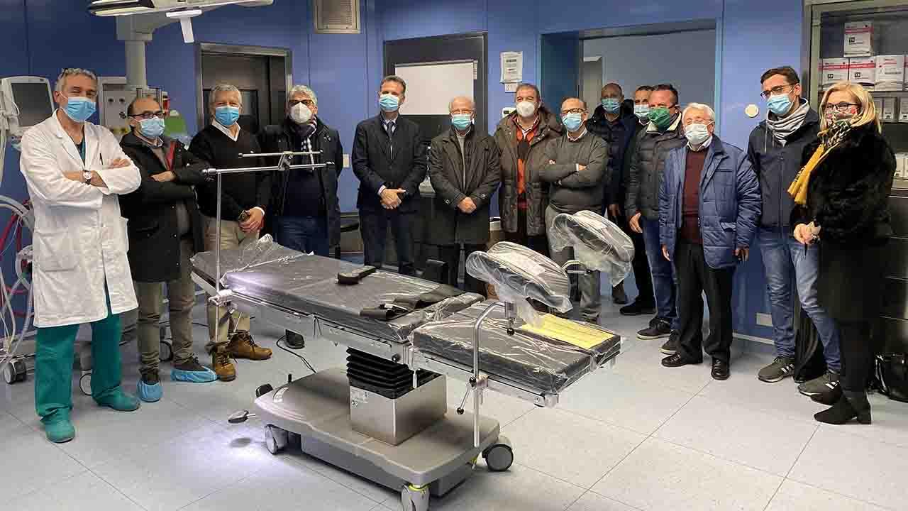 Ospedale di Ribera, associazioni donano all'ASP un letto operatorio di ultima generazione