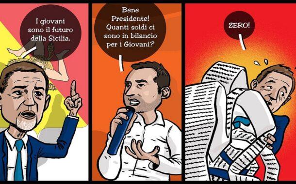 Nella finanziaria regionale niente fondi per politiche giovanili: Catanzaro protesta con... vignetta