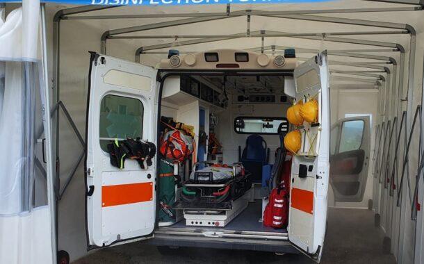 ASP di Agrigento, ambulanze e personale 118 sanificati grazie a speciali tunnel di disinfezione