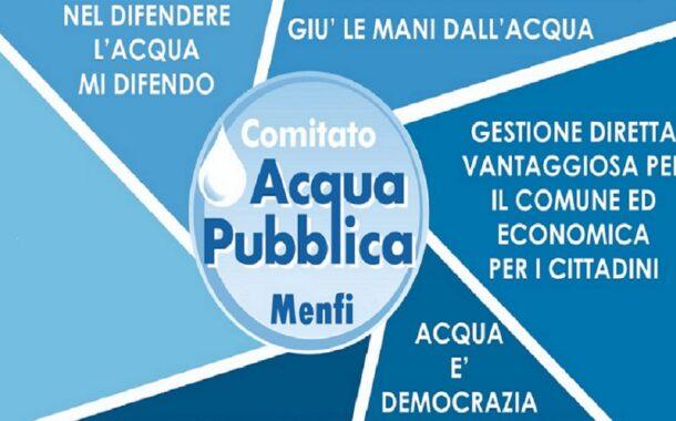 Solidarietà all'Ati dal Comitato Civico Acqua Pubblica di Menfi