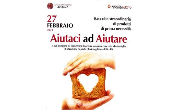Raccolta alimentare Caritas oggi a Sciacca