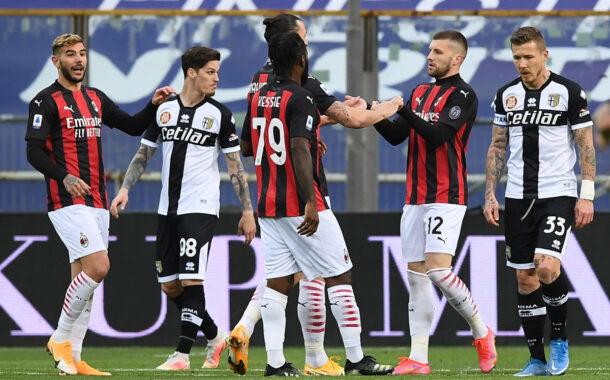 Rebic, Kessie e Leao, il Milan vince 3-1 a Parma