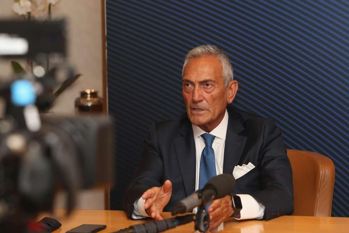 """Gravina """"Finale Coppa Italia col pubblico? E' fra le ipotesi"""""""