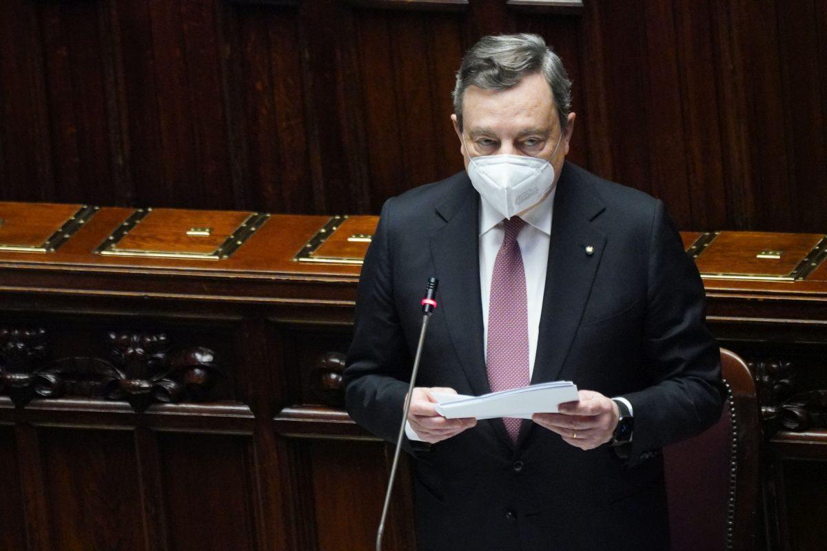 """Recovery, Draghi """"Piena collaborazione con Parlamento ed enti locali"""""""