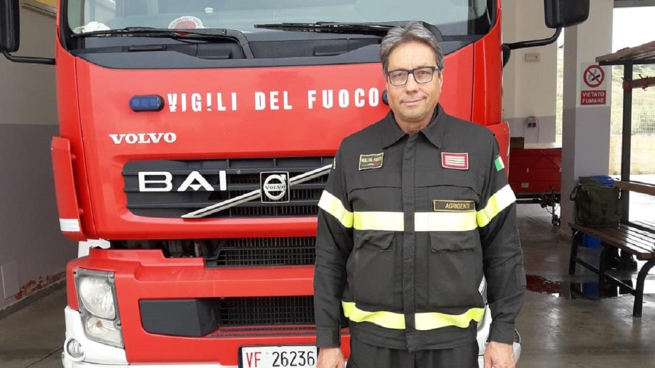Vigili del fuoco, va in pensione il Capo Distaccamento Dino Augello