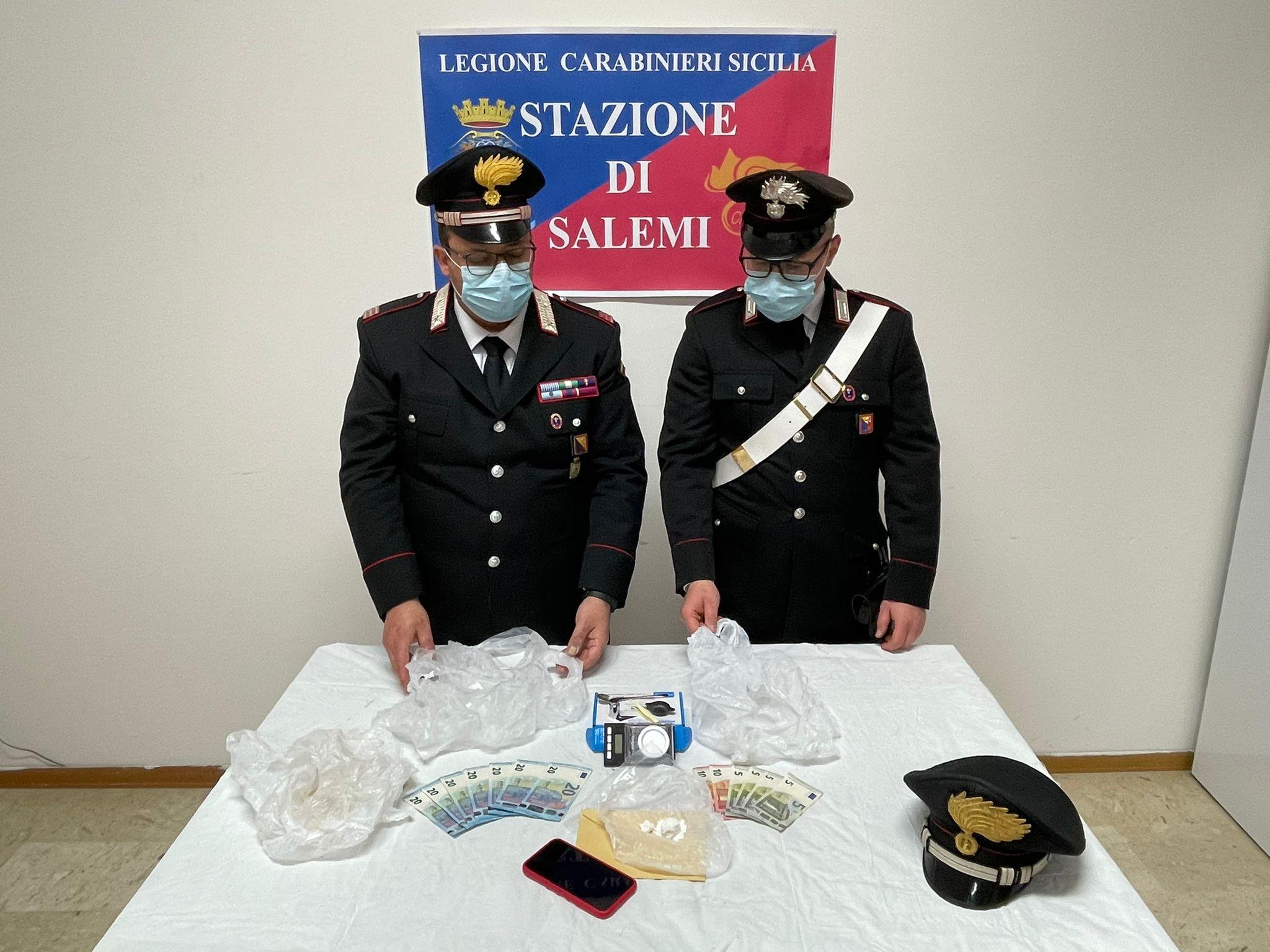 Salemi, arrestato dai carabinieri corriere della droga