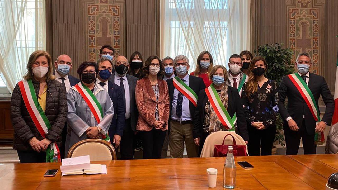 Sindaci dell'agrigentino ricevuti dai ministri Gelmini e Carfagna <font color=