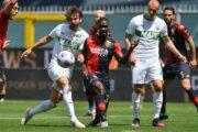 Sassuolo prosegue il sogno Europa, 2-1 in casa Genoa