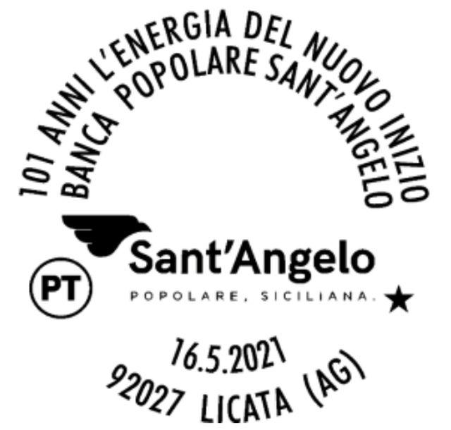 Banca Popolare Sant'Angelo, un annullo postale speciale per i 101 anni