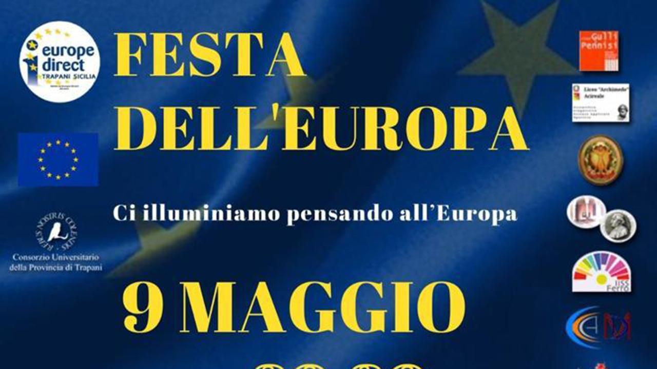 Festa dell'Europa, a Sciacca Porta Palermo si illumina d'azzurro