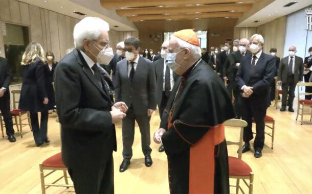 Mattarella assiste alla proiezione video per la beatificazione del giudice Livatino,