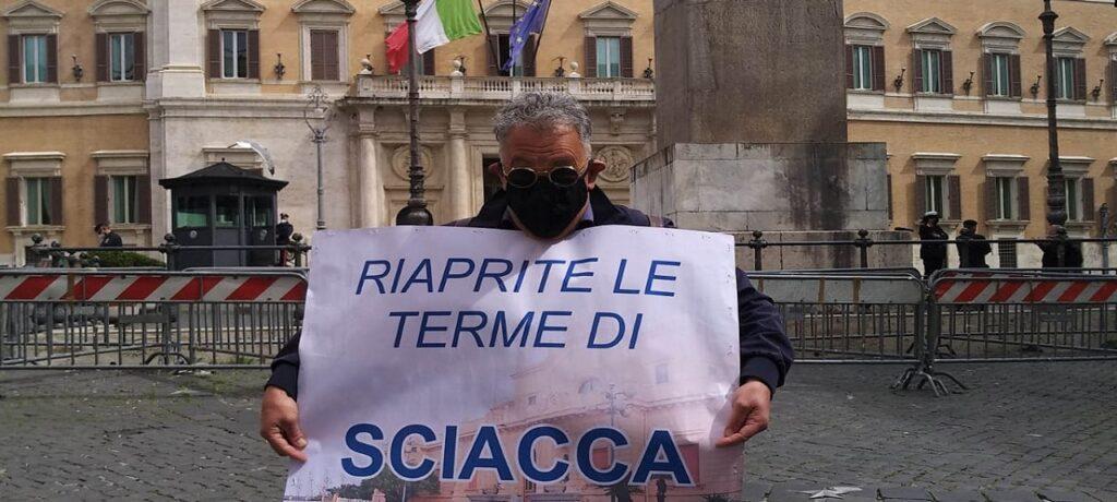 Terme chiuse: protesta saccense anche a Roma