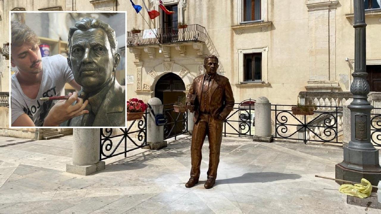 Collocata a S.Margherita la statua in bronzo di Giuseppe Tomasi di Lampedusa