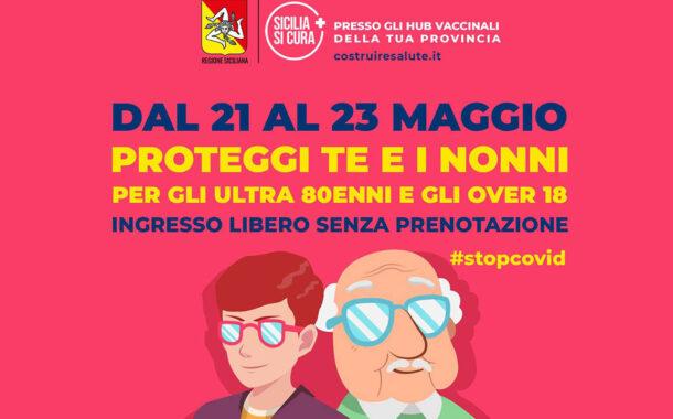 Oggi e domani all'hub di Sciacca possono vaccinarsi gli over 18 (senza prenotazione) se accompagnano gli ultraottantenni