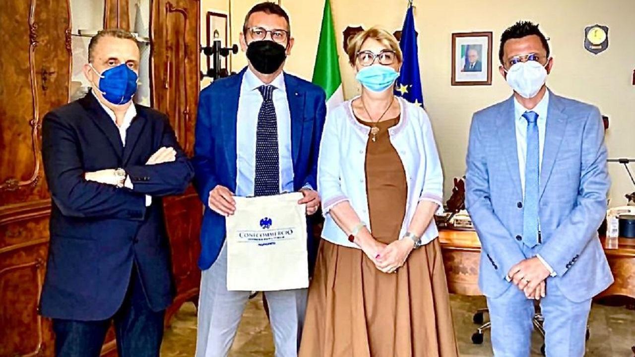 Giuseppe Caruana (Confcommercio) incontra Prefetto Cocciufa