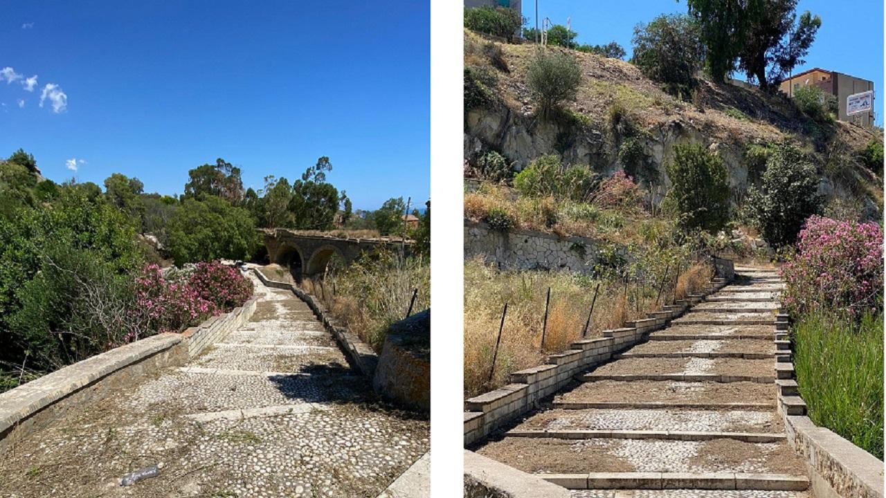 Ripulita scalinata Antiche Terme Selinuntine