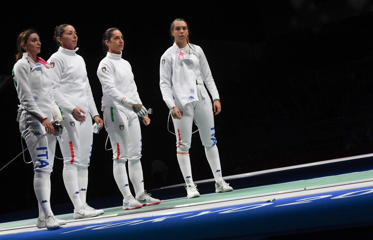 Bronzo per l'Italscherma nella spada a squadre donne