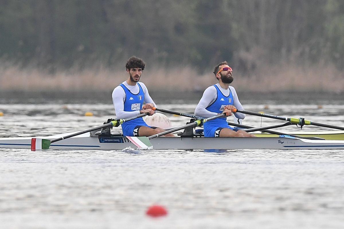 Bronzo Italia nel canottaggio doppio pesi leggeri uomini
