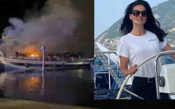 A fuoco una barca a Marina di Stabia, muore hostess 29enne dell'equipaggio
