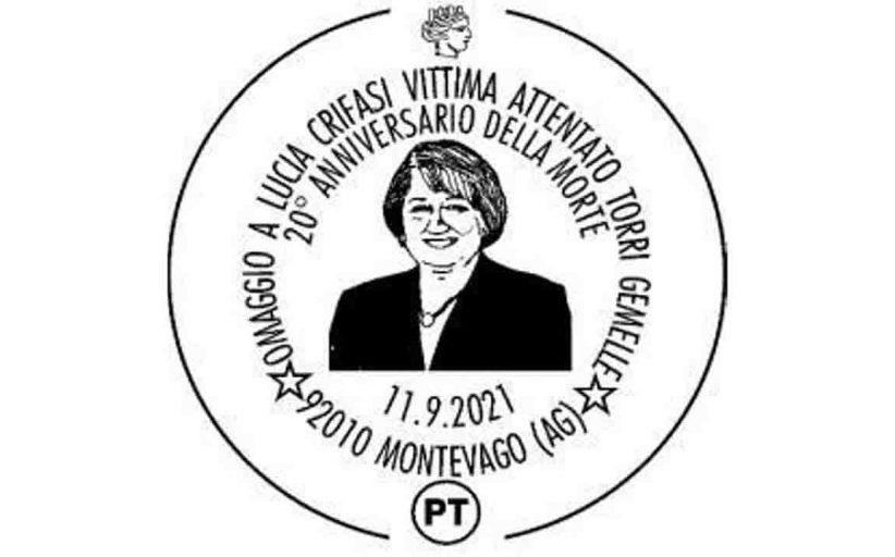 Montevago, annullo postale per ricordare Lucia Crifasi tra le vittime dell'attentato alle Torri Gemelle
