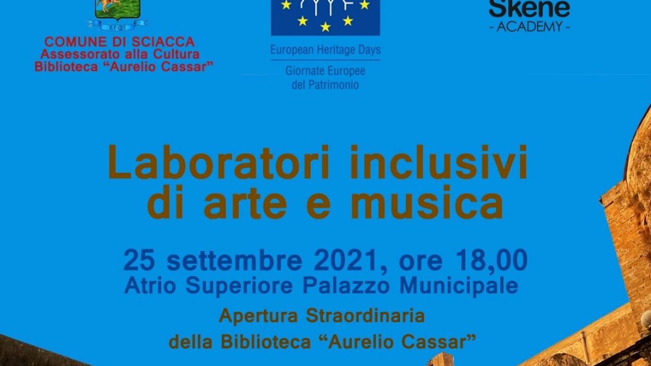 Giornata Europea Patrimonio Culturale il 25 settembre a Sciacca